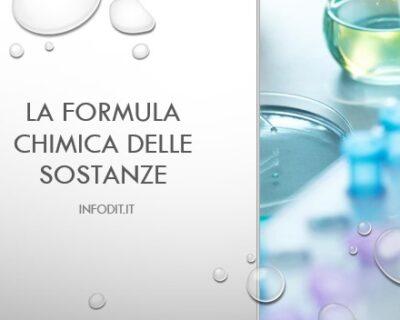 La formula chimica delle sostanze