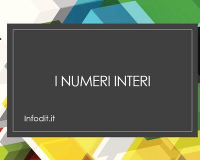 I numeri interi