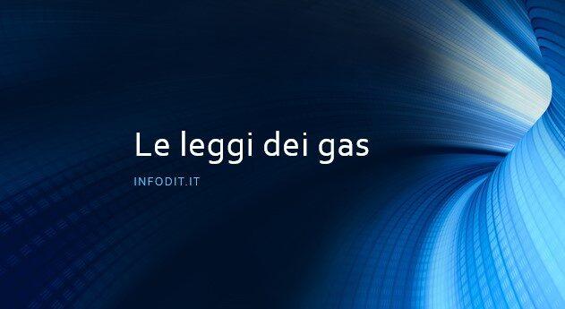Le leggi dei gas