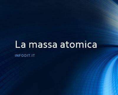 La massa atomica